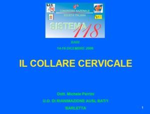 Il collare cervicale