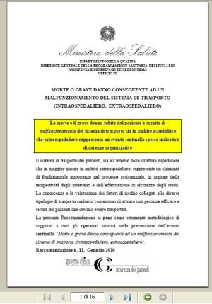 Raccom numero 11/2010 Ministero della Salute